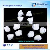 CE approved with X ray detectable cotton swab gauze balls