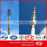 Self-support Mobile Phone Signal Tower Galvanized Monople Tower Telecommunication Antenna Pole