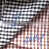 China wholesales 40s plaid plain cotton fabric for men's shirt and women's shirt