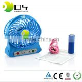 Wholesale OEM Custom logo air battery power handheld high speed plastic Portable Rechargeable USB Desk Pocket mini fan