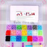 2014 Hot Sell Eco-friendly Crazy Silicone DIY Loom Bands Wholesale