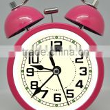 "quartz analog desk clock, belling clock, 4.5"" metal twin bell alarm clock"
