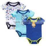 Wholesale 3Pcs Cartoon Baby Short Sleeve Clothes,Newborn Baby Girl Clothing,Baby Costume Baby Onesie                                                                         Quality Choice