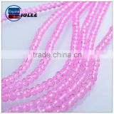 Hollow glass beads 4mm small size crystal beads faceted pink tourmaline beads                                                                                                         Supplier's Choice