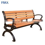 antique cast iron chinese style garden natural wood bench
