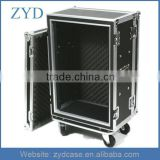 16 Space Shock Absorbing Audio Effects Rack Mount Aluminum Road Flight Case ZYD-HZMfc021