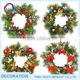 Professional Factory Supply wholesale christmas wreath decoration