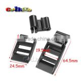 "1"" Plastic Ladder Lock Slider Buckle (2-piece) for Hiking Camping Bags Backpack #FLC484-20B"