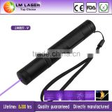 handheld 100mw 405nm violet dot lasers pointer money detector with star effect cap rechargeable battery charger