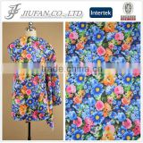Jiufan Textile 75D DTY Polyester Spandex Floral Print Scuba Knit Fabric For Dress Skirts