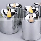 Silver Flameless Votive Christmas Candles Battery Flickering led tea light