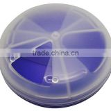 weekly 7day round press button plastic pill box