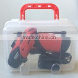 3.6Volt/4.8Volt Best selling cordless screwdriver with 18pcs bits in plastic carry case