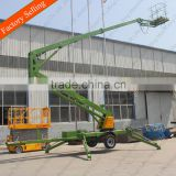 2016 small telescopic trailer articulating boom lift