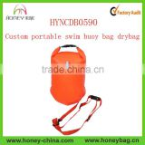 Custom portable swim buoy bag drybag safe swimmer buoy inflatable life buoy swim buoy float bag