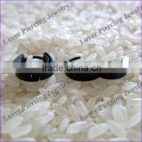 Wholesale Black Steel Ear Piercing Ring Surgical Steel Ear Piercing Studs [ES-815B]