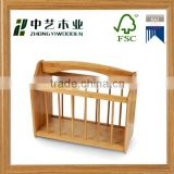 FSC&SA8000 handmade high quality desktop wooden office magazine rack wooden book file holder