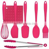 Personalized easy cleaning silicone pink bbq tool set                                                                         Quality Choice