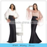 ED726 Latest vestido de festa Satin Arabic Evening Dress Plus Size Long Sleeve Dubai Sexy Party Dresses Evening Gowns