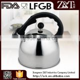 Canton Fair stainless steel tea kettle with black fixed handle