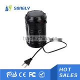 Battery led solar lantern with mobile phone charger, solar camping light, rechargeable lantern solar