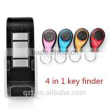 wireless remote control LED personal key finder Locate alarm Keychain Electronic Anti-lost 4 in 1 Key Finder