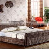 Wicker Rattan Bedroom Set Furniture ( Hand woven by wicker,hyacinth & wooden frame )