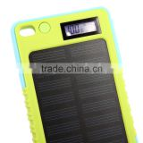 Waterproof Digital Display Solar Power Bank 8000mah CE FCC battery Mobile Power Bank charger case RoHS Portable Power Bank