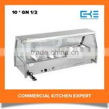 10 * GN 1/2 Pans Tilted Glass Cheap Commercial Buffet Stainless Steel Food Warmer