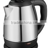 Baidu manufacture 1.0L beautiful polished stainless steel electric kettle fast boil water cord-free pouring