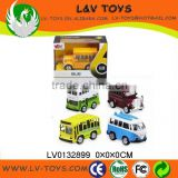 Hot-selling diecast pull back toy bus with light and sound 12 in 1