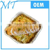 Offer different shapes 100ml-800ml capacity disposable aluminum foil container/tray/lunch box with lid