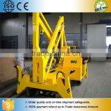 Hydraulic telescope truck mounted lift crane / Electric trailing wheels crank lift platform