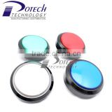 60mm LED black body with color top round illuminated push button