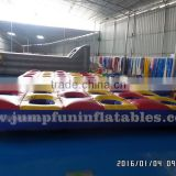3 lane inflatable run obstacle race track for adults,funny inflatable sports games for child and adults