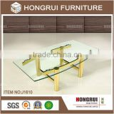 Alibaba wholesale Living Room Coffee Table Modern glass dining table/ champagne gold coffee table
