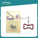 Factory Wholesale New Product Wholesale Fashion Jewelry Red Enamel Gold Alloy Cheap Dog Tags For Dogs