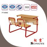 AP two seater wooden school furniture desk and chair two person writing desk and chair two people desks