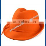 hot new products for 2014 multi-color Fedora ladies hats felt cat ear hat wholesale with bowknot