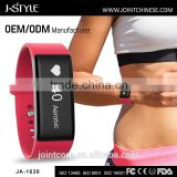 High quality bluetooth medical bracelet with continuous heart rate monitor compatible with a smart phone
