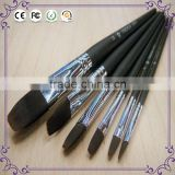 China art suppliers professional acrylic watercolor painting wood handle bristle hair artist paint brush set