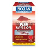Bioglan Red Krill Oil 1000mg 60 Capsules High Strength omega 3 (healthy cholesterol, heart health and arthritis relief)