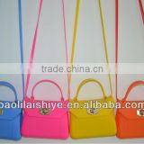12colors stock!!! candy color fashion silicon bag for lady