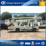 CLW high quality cheapest price 2 or 3 section fold boom 12 14 16 18 21 25 32 meters mobile aerial work platform truck for sale
