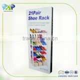 21 pairs cheap plastic shoe rack wholesale