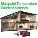 Multipoint Temperature Wireless Sensors data logger