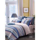 Elegant Custom Home Striped Twill Cotton Bed Set For Boys Comfortable