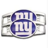 Sports Season Popular NFL Team Logo Shoelace Charms New York Giants Football Charm