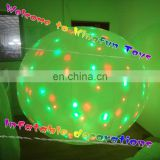 Magical ground inflatable led ball