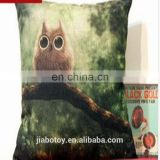 Throw Pillow Hot Sale Creative Owl Pattern Decorative Pillows,Christmas Decorations Printing Cushion, Covers Can design logo